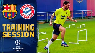 TRAINING ahead of the Champions League game BARÇA - BAYERN MÜNCHEN ?
