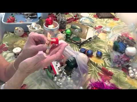 Vintage Christmas Ornament grab bags