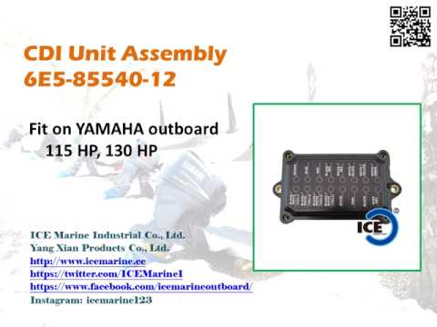 For YAMAHA Outboard CDI Unit 6E5-85540-12 from ICE Marine Industrial Co., Ltd.