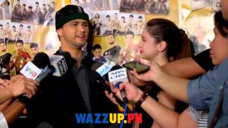 Sweet Ni Coleen Garcia and very supportive of Billy Crawford at the Moron 5 2 Premiere