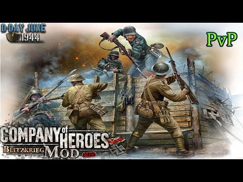 CoH Blitzkrieg Mod PvP _ first game of v5.1.4 patch