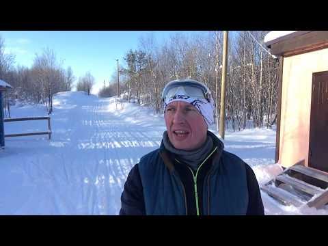На лыжах в