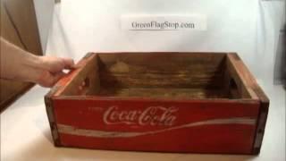 Wooden Coke Coca-cola Soda Bottle Crate