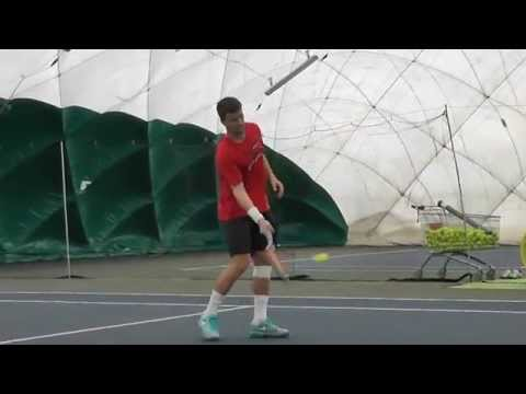 LOVE 4 TENNIS: Marco Chiudinelli, Davis Cup winner, in training in our club