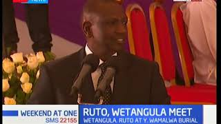 DP Ruto's speech in Kitale as he attended Yvonne Wamalwa's funeral