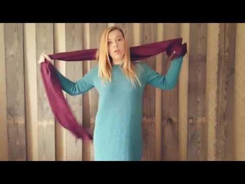 Платье реглан сверху спицами для женщины