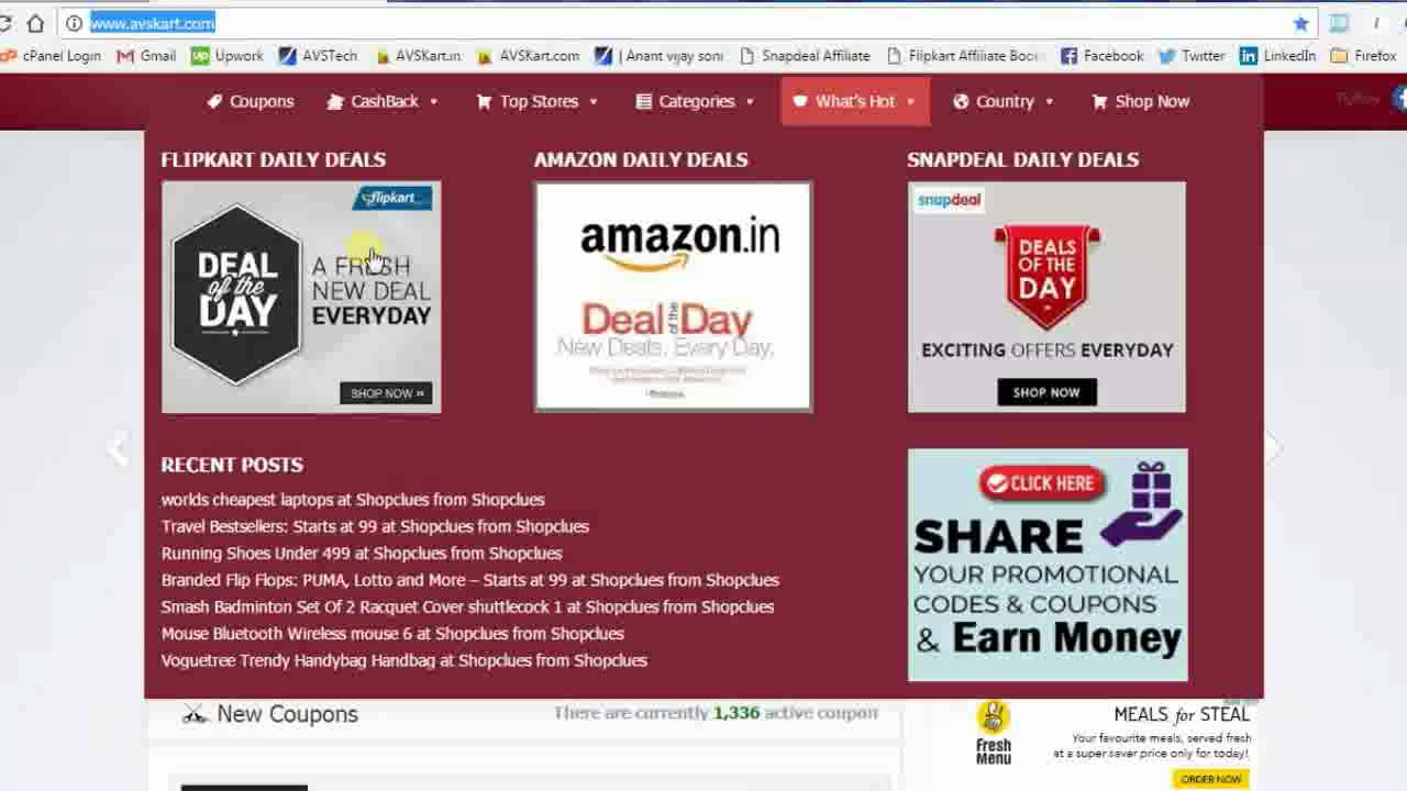 How To Earn Money Or Save Money From Coupon Websites Avskart