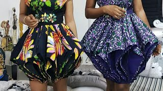 How to cut and sew a Lampshade Modified Cone Skirt  ( Part A)