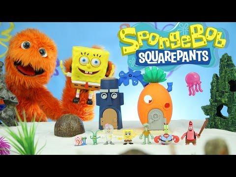 Play Doh Plankton Spongebob Squarepants Imaginext Playset Toys Super Unboxing for kids