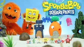 Play Doh Plankton Spongebob Squarepants Imaginext Playset Toys Super Unboxing for kids