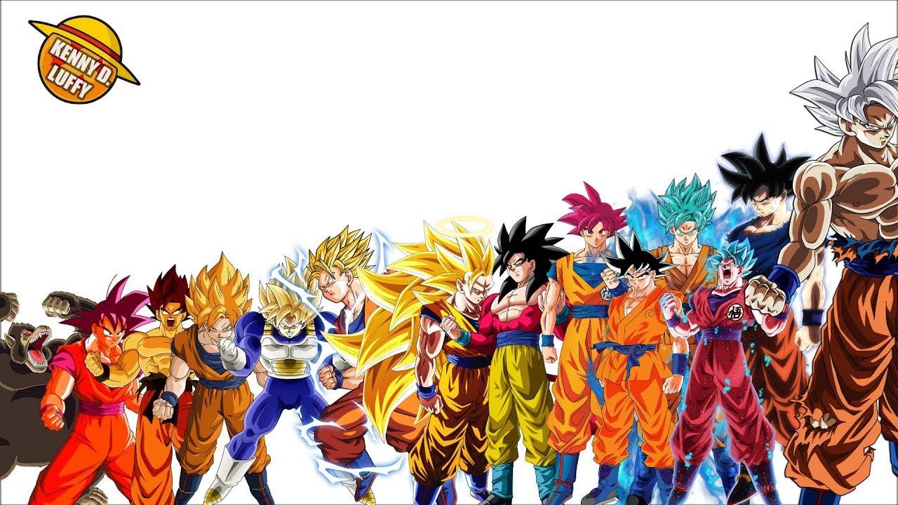 Todas Las Transformaciones De Goku Explicacion Completa Youtube