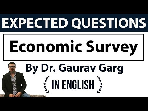 Economic Survey 2018 - 50 expected MCQ Questions - UPSC/RBI Grade B/IBPS/SBI PO & Clerk/JAIIB/DBF