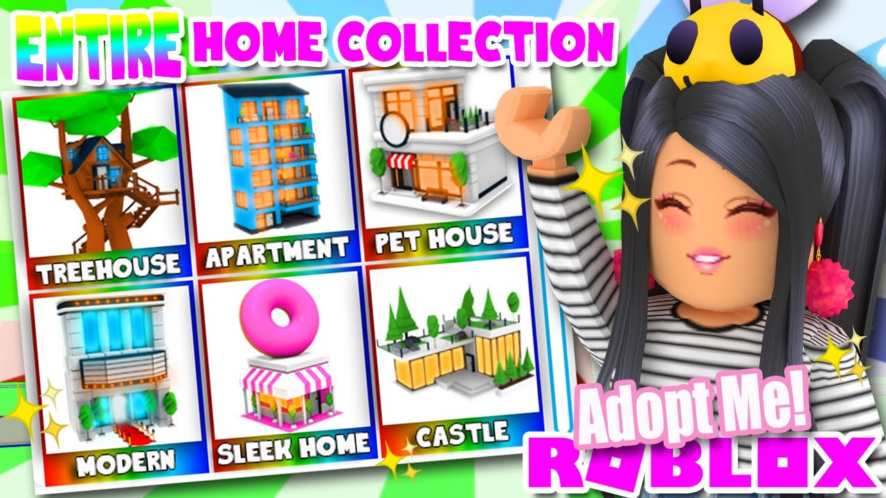 My Entire House Collection In Adopt Me Roblox Tour Mansion
