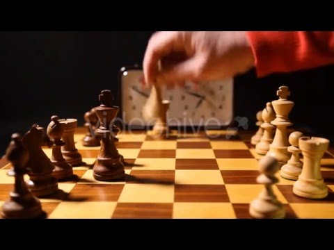 CHESS MATCH - ROYALTY FREE - STOCK FOOTAGE.