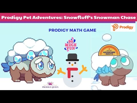 Prodigy Pet Adventures First Episode Snowfluff S Snowman Chase Battles With Snowfluff Youtube