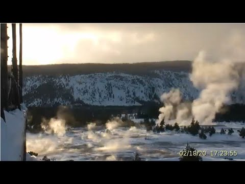 A Dreamy Day@Yellowstone! Bright Geysers & Bison! 2/18/2020