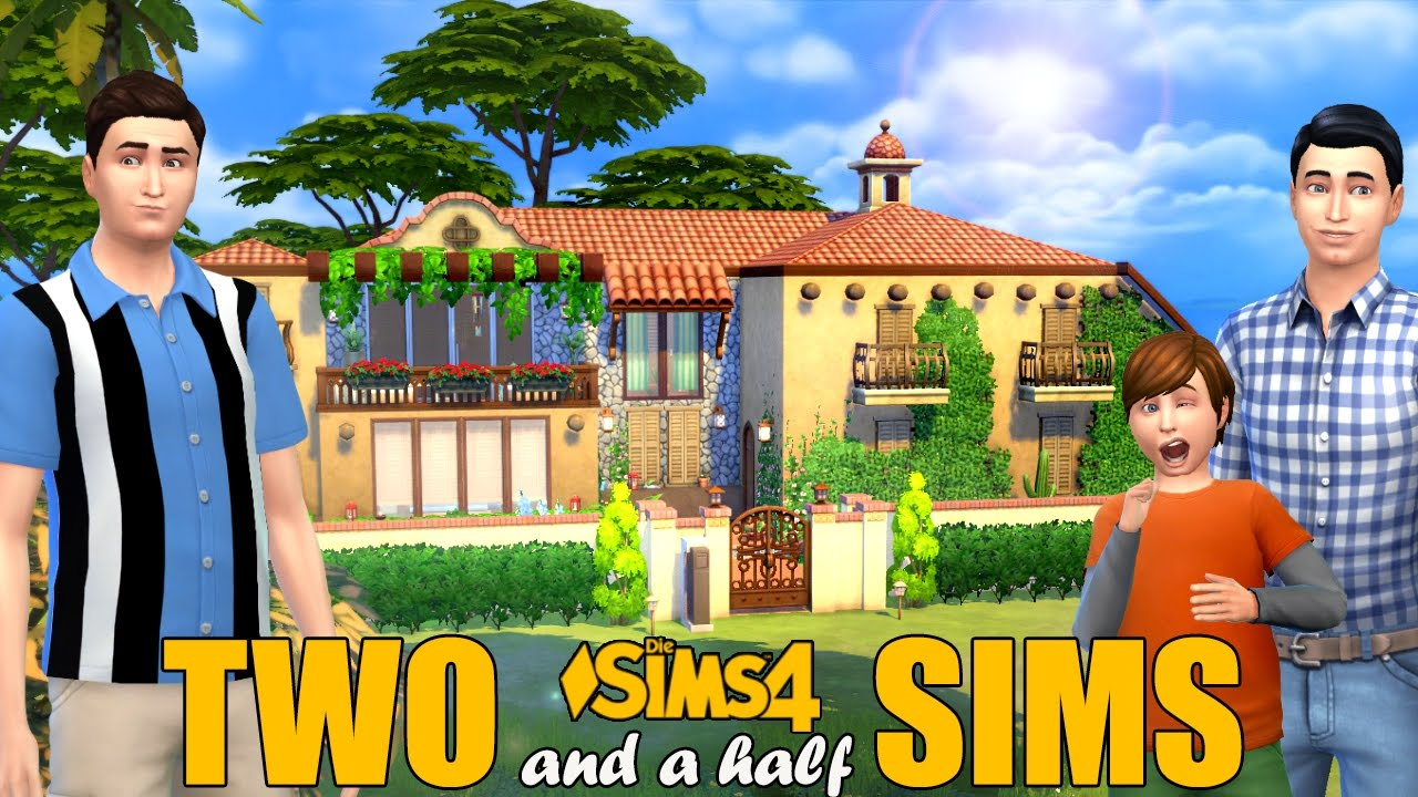 Sims 4 Two And A Half Sims Tv House Youtube