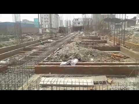 BUILDING CONSTRUCTION WORK SITE VIDEO IN HINDI| CONSTRUCTION OF BACEMENT FLOOR ,COLUMN STATER,STEEL