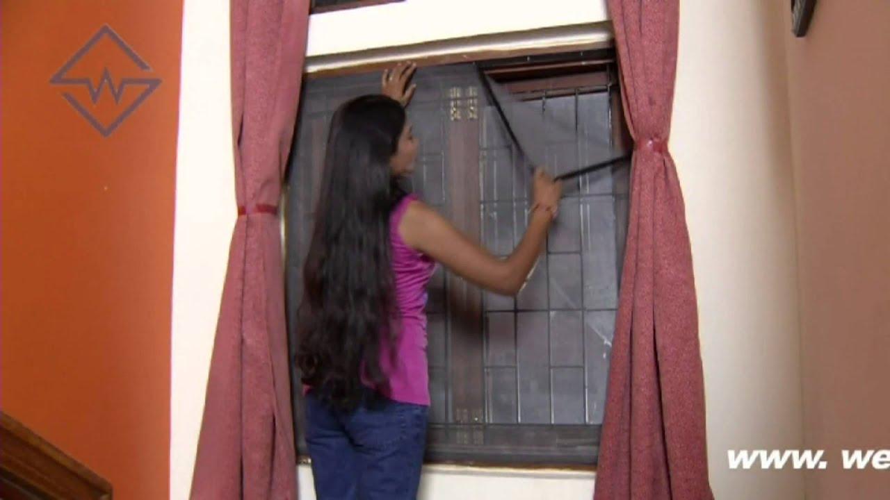 Mosquito screen detachable windows hyderabad youtube - Mosquito net door designs ...