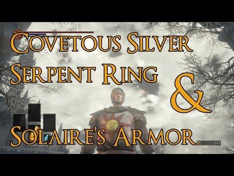 Dark Souls 3 - Covetous Silver Serpent Ring, Estus Flask, & Solaire's Armor Location