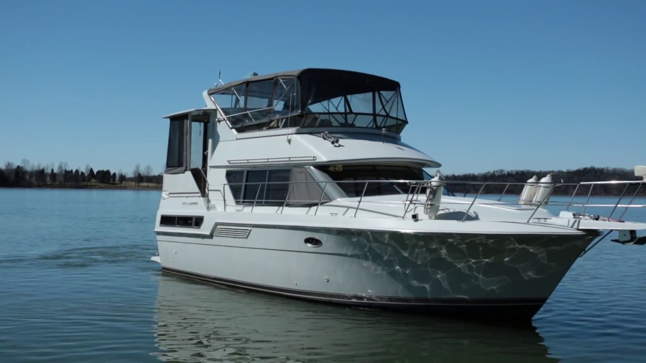 Carver 370 aft cabin motor yacht for sale trial run for Carver aft cabin motor yacht