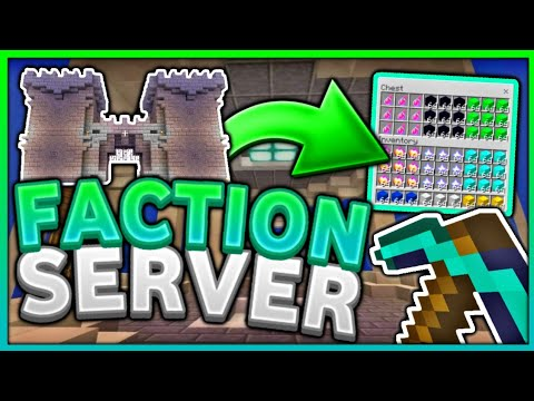 *NEW* Best Faction Server For MCPE  - KitPvp, Bosses, Raids - Minecraft Bedrock Edition