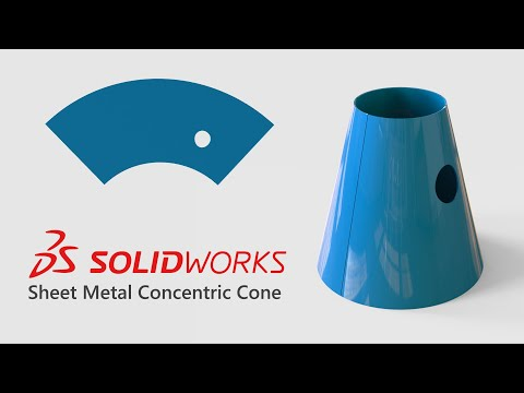Solidworks Sheet Metal - Concentric Cone
