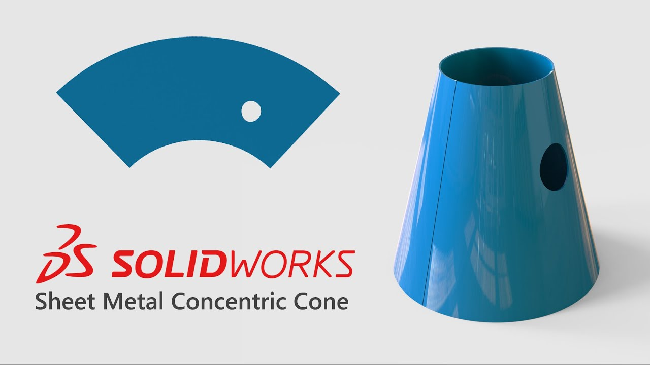 Solidworks Sheet Metal Concentric Cone Youtube
