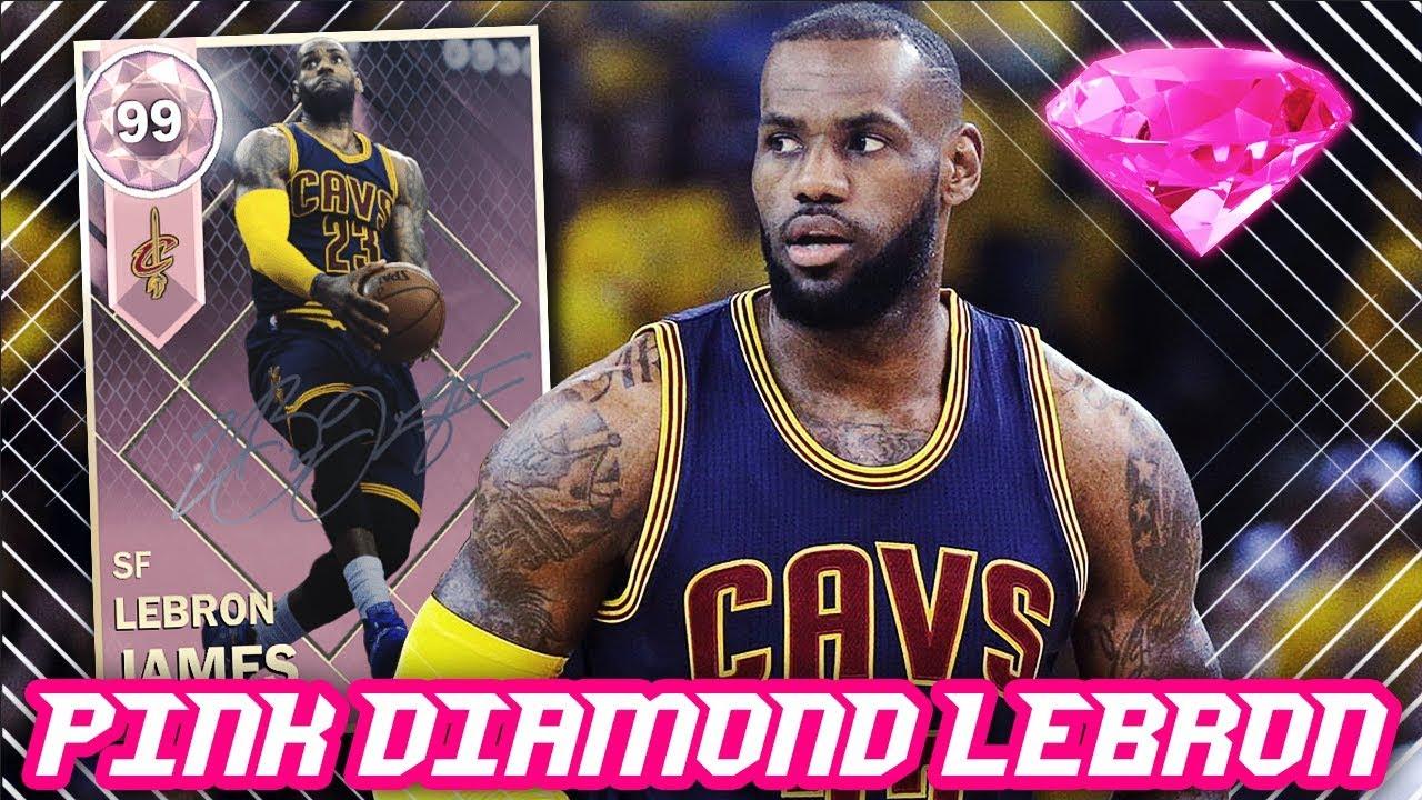 2410f993bfcb9 NBA 2K18 PINK DIAMOND 99 OVERALL LEBRON JAMES!!!  NEW SIGNATURE PACKS
