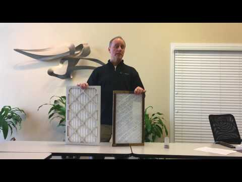 Pleated vs Fiberglass Air Filter Demonstration