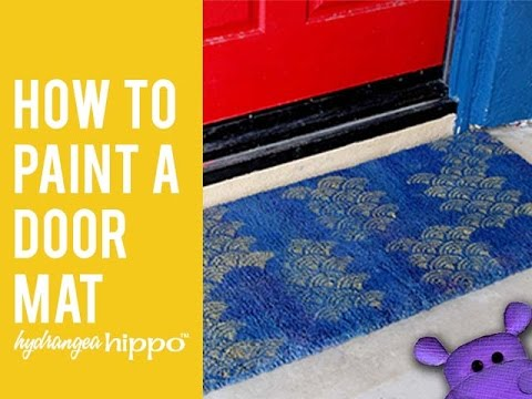 How To Paint A Door Mat Youtube