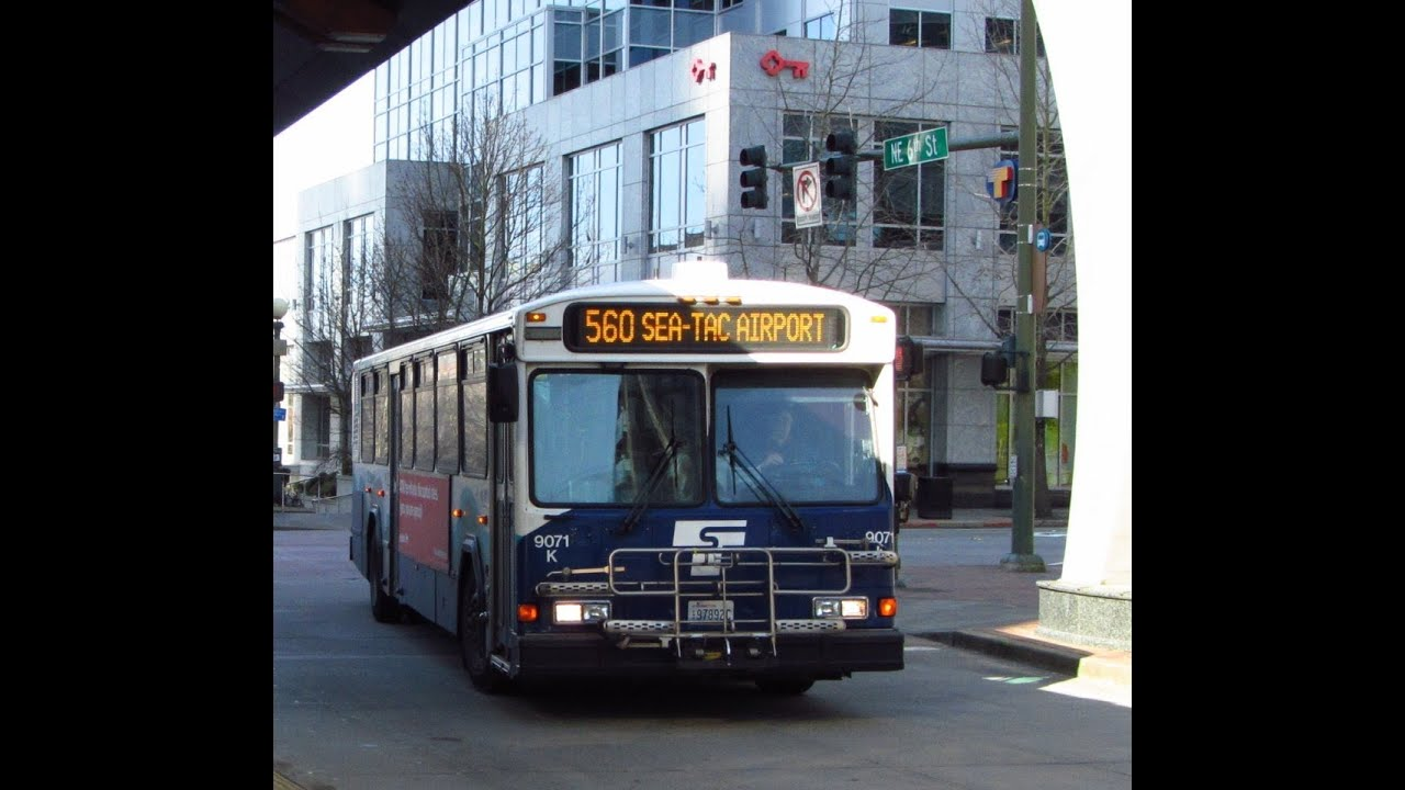 retired!!! sound transit 2001 gillig phantom 9071k on route 560 to