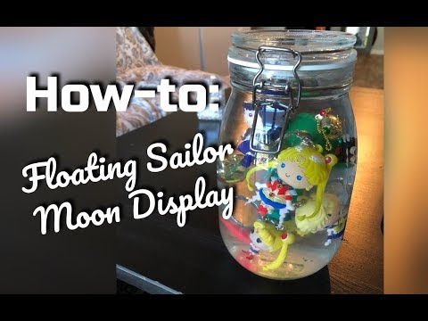 DIY How To - Floating Sailor Moon Keychain Display