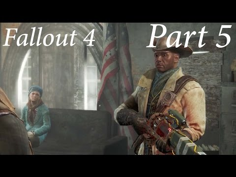 Let's Play Fallout 4 Blind Part 5 Into Concord!!