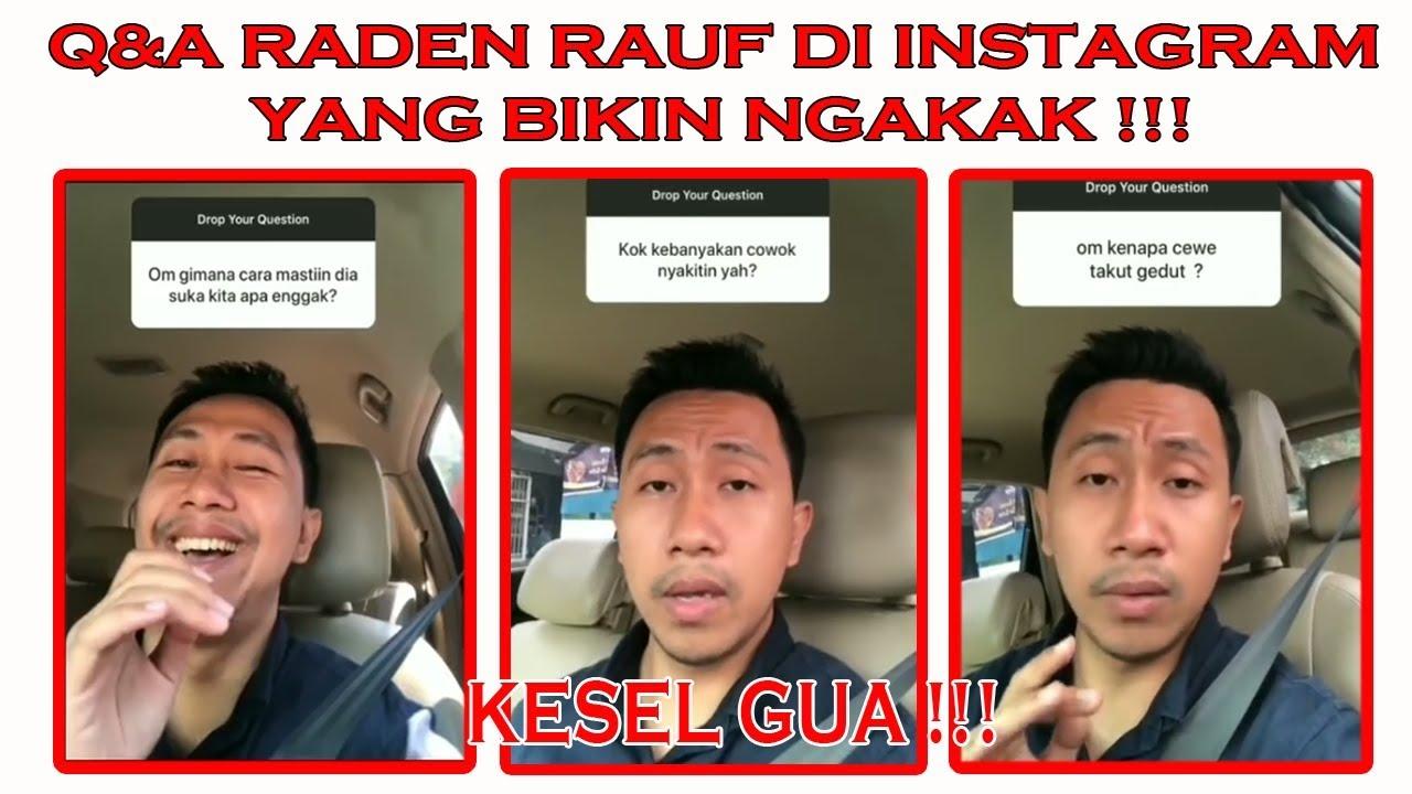 QNA Raden Rauf Lucu Di Instagram Bikin Ngakak YouTube