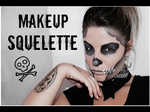 2 squelette maquillage halloween facile skeleton skull hd youtube. Black Bedroom Furniture Sets. Home Design Ideas