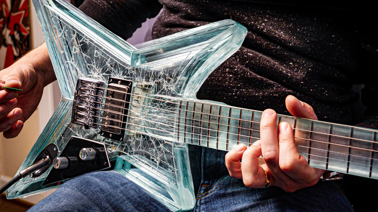 This Guitar is Made 100% of GLASS and Sounds BEAUTIFUL