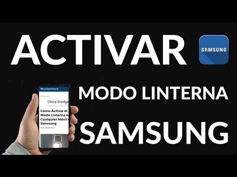 Cómo Activar el Modo Linterna en Cualquier Móvil de Samsung