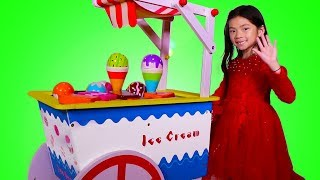 Emma Pretend Play with Ice Cream Cart Toy