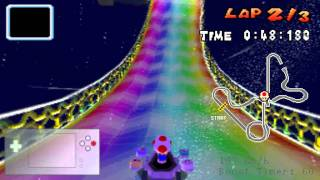 Mario Kart DS HD Recording Test - Rainbow Road World Record