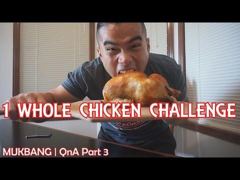 QT| 1 WHOLE CHICKEN CHALLENGE | MUKBANG | QnA PART 3