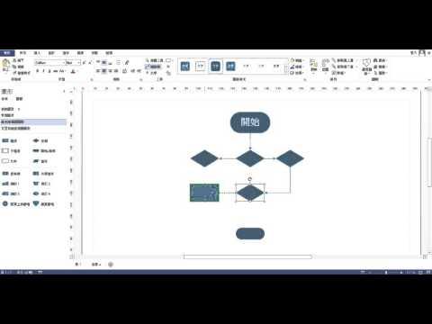 不用3分鐘馬上學會製作「基本流程圖」(軟體Visio 2013)