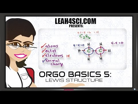 Lewis Structure for Organic Chemistry Molecules Orgo Basics 5