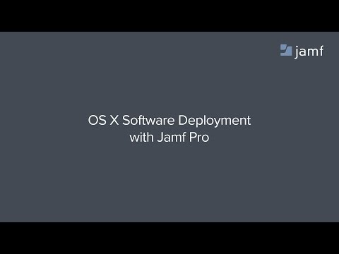 OS X Software Deployment with Jamf Pro