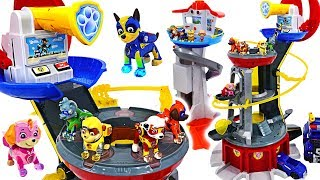 We've taken the base! Paw Patrol Mighty Pups Mighty Lookout Tower appeared! | DuDuPopTOY
