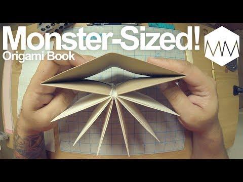 ▲ Monster Sized Origami Book // Bookbinding Basics ep. 16