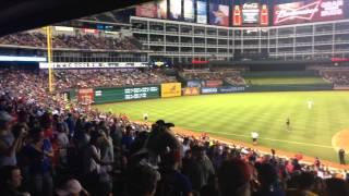 Guy Proposes to Girl at Texas Rangers Baseball Game 6/24/14