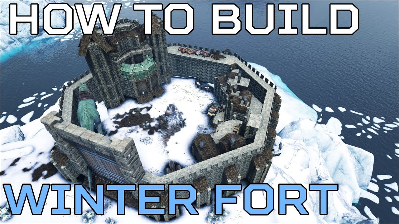 🦄 Winter Fort HOW TO BUILD The Island PVE | Ark Survival [NO MODS