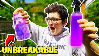 THE SPRAY THAT WILL MAKE ANYTHING UNBREAKABLE!