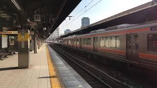 JR東海名古屋駅愛知環状鉄道名古屋工場出場 11番線到着